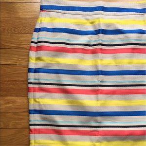 J. Crew colorful jacquard stripe skirt